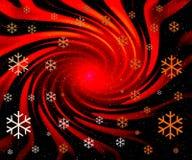 röd abstrakt jul Fotografering för Bildbyråer