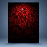 Röd abstrakt mall Arkivbilder