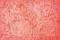 Röd abstrakt strukturell stuckaturtextur Royaltyfri Foto