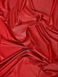 Röd abstrakt torkduk, tygbakgrund och textur, gardinteater Royaltyfria Foton