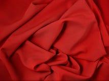Röd abstrakt torkduk, tygbakgrund och textur, gardinteater Royaltyfria Bilder