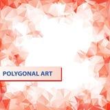 Röd abstrakt vektorfyrkantram för text eller Royaltyfria Bilder