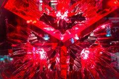 Röd Abtract bakgrund av den stora smällen Arkivfoton