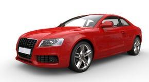 Röd affärsbil royaltyfri bild