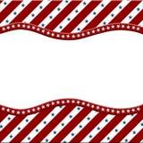 Röd, amerikansk berömram för vit och för blått för ditt meddelande Royaltyfri Bild