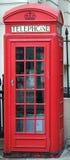 Röd ask för telefon K2 i London Royaltyfri Bild