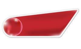 Röd ask för text vektor illustrationer