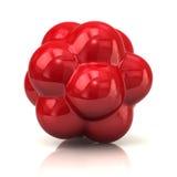 Röd atom Royaltyfri Foto