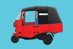 Röd bajajillustration Arkivfoto