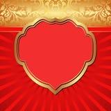 Röd bakgrund Arkivfoto