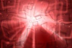 Röd bakgrund för abstrakt konstnärlig fyrkantig bokeh Royaltyfria Foton