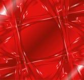 Röd bakgrund för abstrakt vågvirvel Royaltyfri Foto