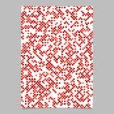 Röd bakgrund för broschyr för prickmodell - design för vektorbrevpappermall Arkivbild
