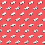 Röd bakgrund för dominobricka Arkivfoto