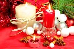 Röd bakgrund för jul Fotografering för Bildbyråer