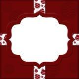Röd bakgrund för jul för din meddelande eller inbjudan Royaltyfri Fotografi