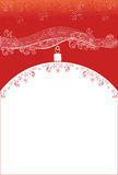 Röd bakgrund för jul med ormen Royaltyfria Foton