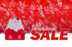 Röd bakgrund för julförsäljning vektor illustrationer