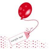 Röd bakgrund för meddelandeballonvektor Arkivfoto