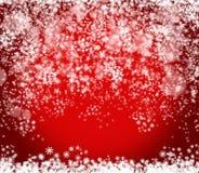 Röd bakgrund för nytt år och för jul Royaltyfria Bilder