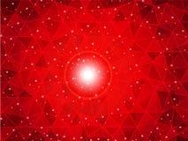 Röd bakgrund för polygonlutning Royaltyfria Foton