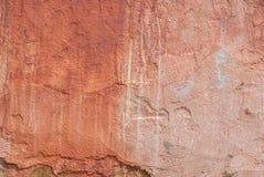 Röd bakgrund, gammal betongvägg, abstrakt begreppbetong, textur Royaltyfria Bilder