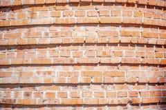 Röd bakgrund Gammal Grungy tegelstenvägg, horisontaltextur royaltyfri bild