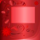Röd bakgrund med fotoramen Royaltyfri Bild