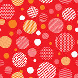 Röd bakgrund med prickmodellen Royaltyfria Bilder