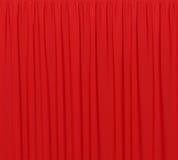 Röd bakgrund stängd gardin i teater Royaltyfri Fotografi