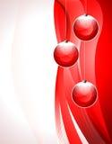 röd bakgrundjul Royaltyfri Foto