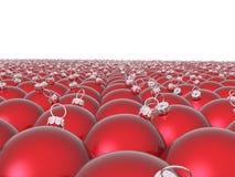 röd bakgrundsbolljul Royaltyfria Bilder