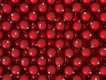 röd bakgrundsbolljul Arkivfoton