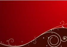röd bakgrundsjul royaltyfri illustrationer