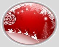 röd bakgrundsjul stock illustrationer