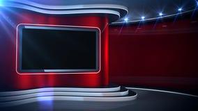 Röd bakgrundsnyheternauppsättning arkivfilmer