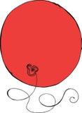Röd ballong Royaltyfri Bild