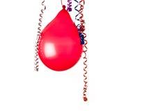 Röd ballong Arkivbild