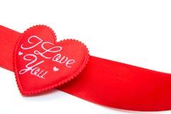 röd bandform för hjärta Royaltyfria Bilder
