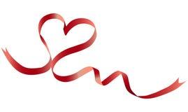 röd bandform för hjärta Arkivbilder