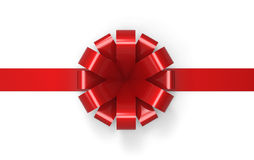 Röd bandprydnad Arkivbild