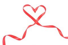 röd bandvalentin för hjärta Arkivfoto