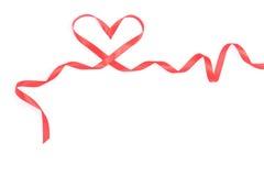 röd bandvalentin för hjärta Arkivbilder