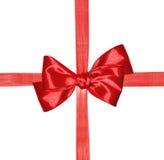 röd bandwhite för bow arkivbild