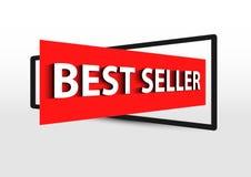 Röd banerbefordran för bästa säljare Royaltyfri Fotografi