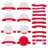 Röd baneruppsättning Royaltyfria Foton