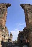 Röd Basilica i den forntida grekiska staden av Pergamon Royaltyfria Foton