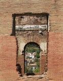 Röd Basilica i den forntida grekiska staden av Pergamon Arkivbild