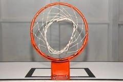 Röd basketkorg Royaltyfri Bild