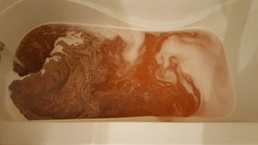 Röd bathbomb Royaltyfria Bilder